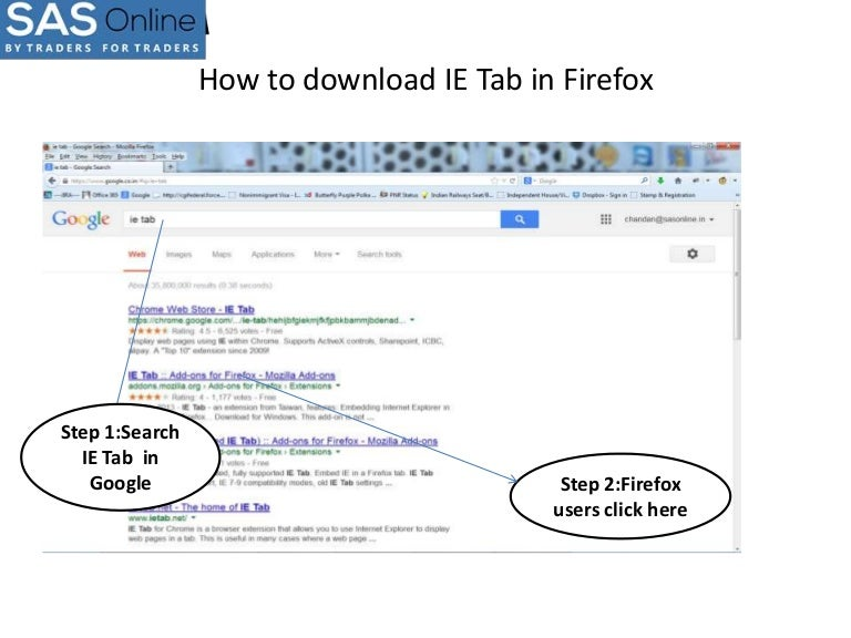 How to download IE tab in firefox