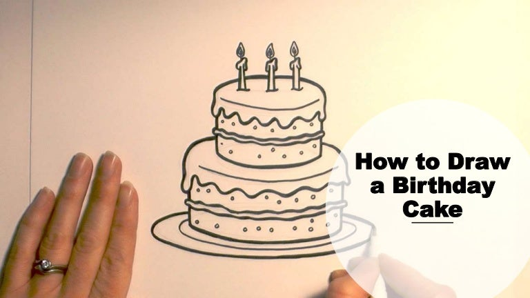 Outstanding How To Draw A Birthday Cake Funny Birthday Cards Online Alyptdamsfinfo