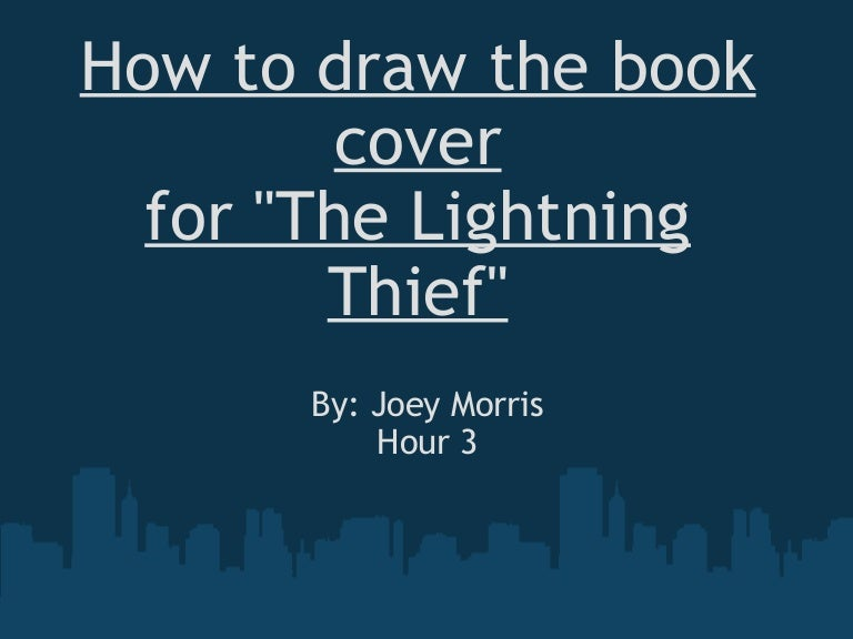 How To Draw The Book Cover For Lightning Thief