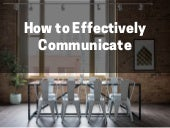 How to Effectively Communicate by David Hochfelder