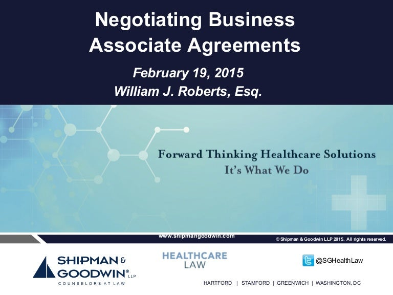 How To Effectively Negotiate A Business Associate Agreement WhatS