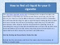 How to find a e liquid for your e-cigarette