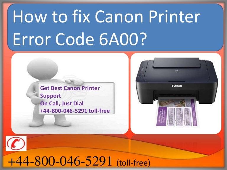 how to fix canon printer error