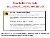 How to fix Error code: SEC_ERROR_UNKNOWN_ISSUERon secure websites