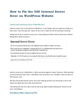 Call 800-514-2544, 500 internal server error on word press website