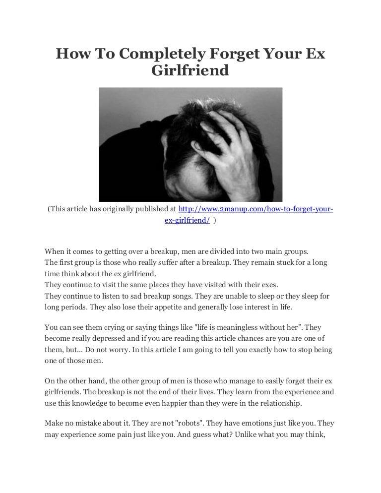 Dealing with ex girlfriends
