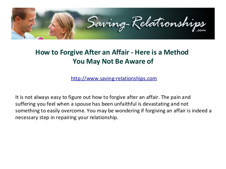 Forgiving an emotional affair