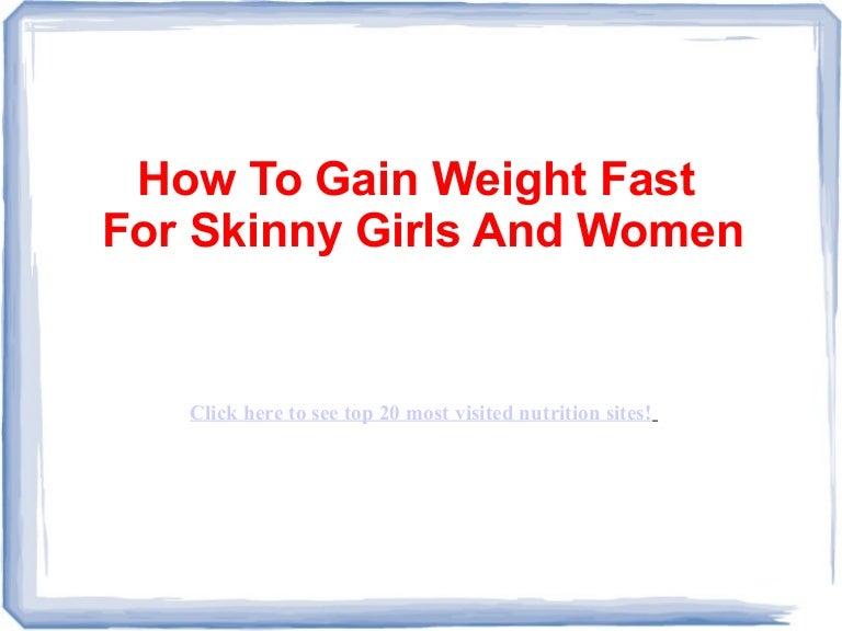 Sådan Gain Vægt hurtigt til Skinny piger og kvinder-2572