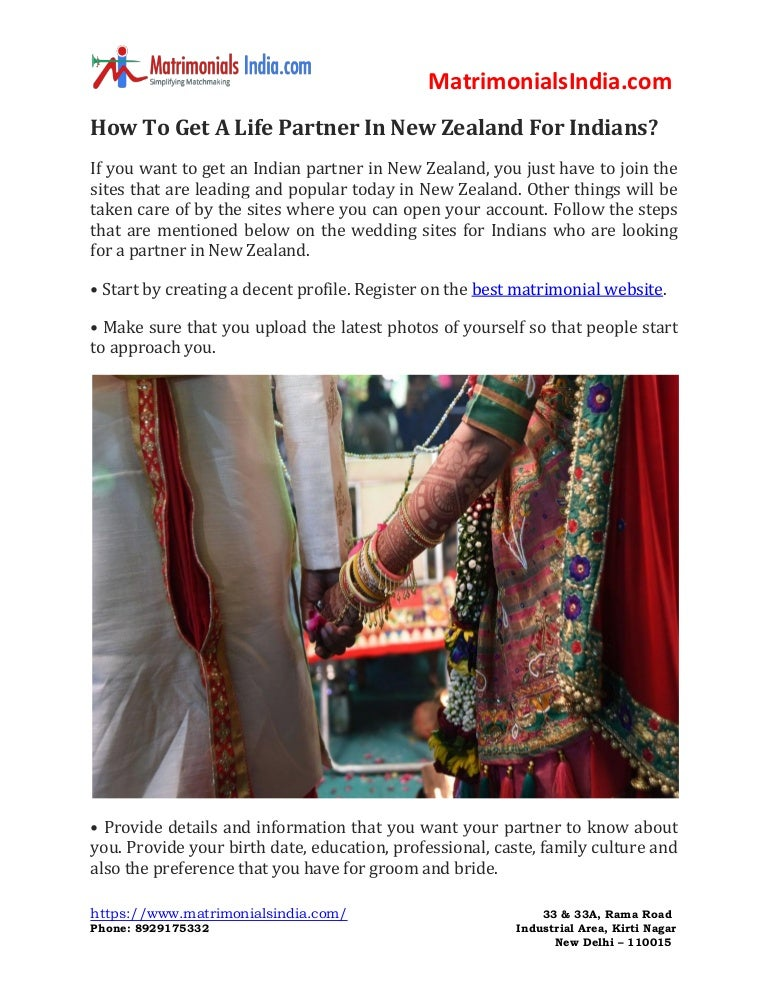 How To Get A Life Partner In New Zealand For Indians?