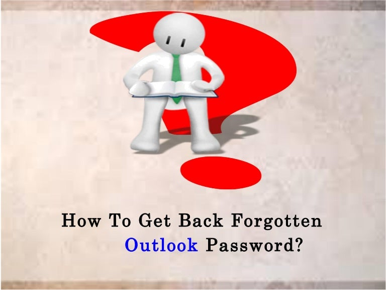 how to show outlook password