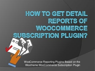 How To Get Detail Reports Of WooCommerce Subscription Plugin