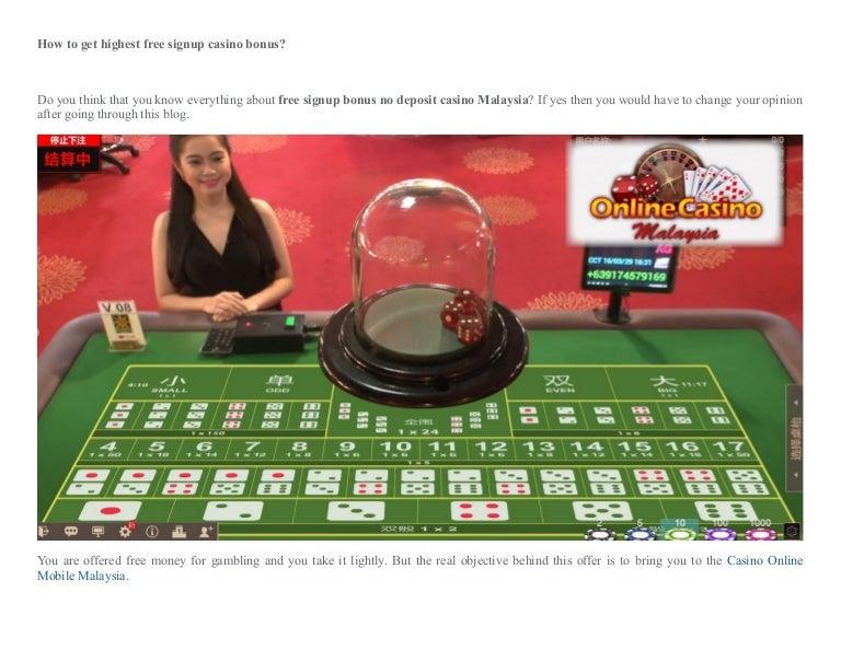 Casino Free Signup Bonus
