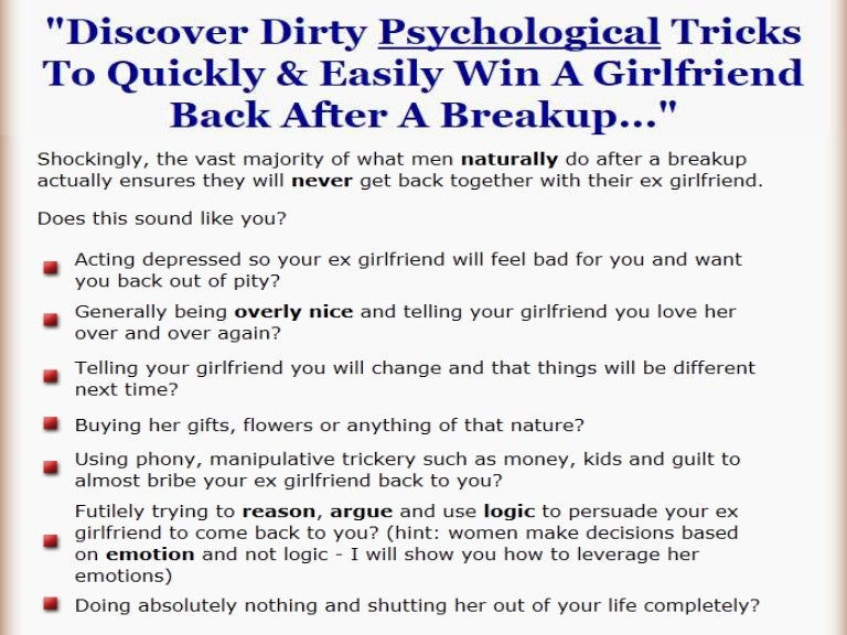 How To Get My Girlfriend Back