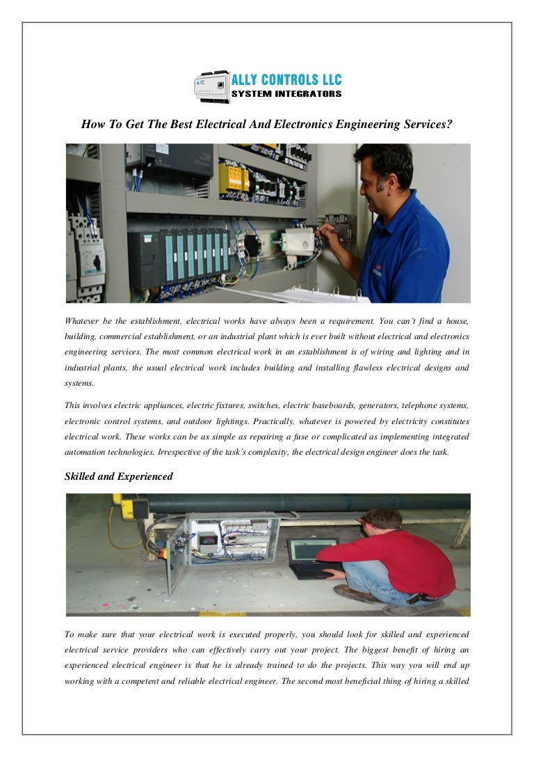 How To Get The Best Electrical And Electronics Engineering Services