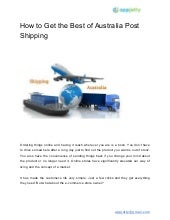 How to get the best of australia post shipping