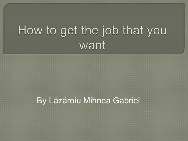 how to get a job when there are none