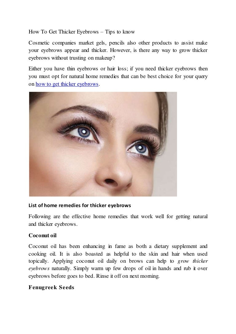 48d790162f5 How to get thicker eyebrows - Proven methods to know