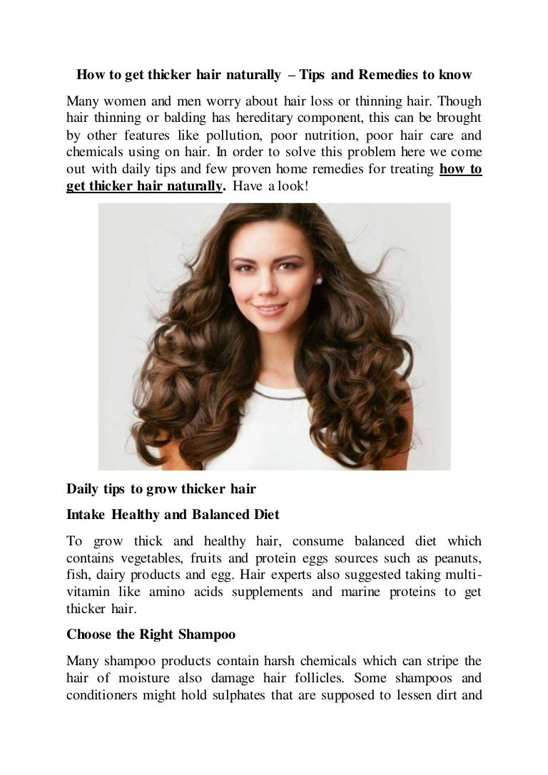 How To Get Thicker Hair Naturally Know Tips And Home Remedies