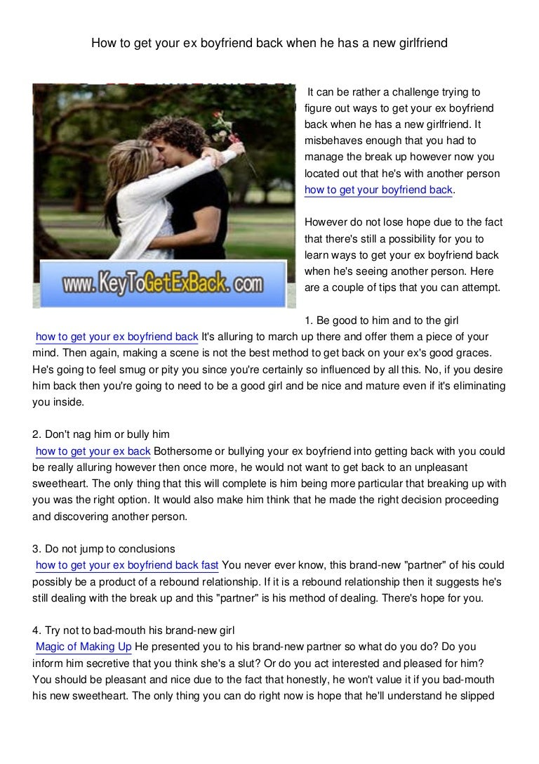 Get How After Back A To Girl Fast A Breakup