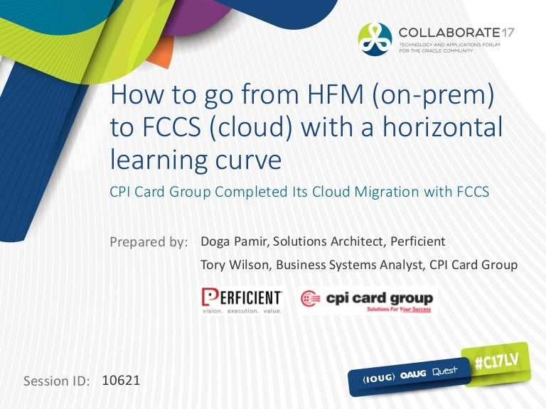 How To Go From Hfm On Prem To Fccscloud With A Horizontal Learnin
