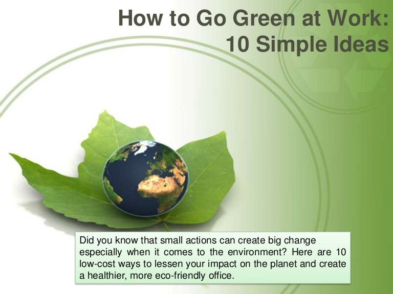 go green ideas for office. go green ideas for office