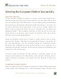 Entering the European Market Successfully How-To Guide