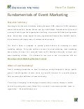 How To Guide - Fundamentals of Event Marketing