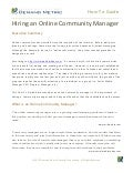 Hiring an Online Community Manager How-To Guide