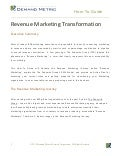 How-To Guide - Revenue Marketing Transformation