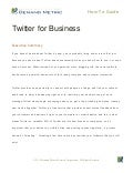 Understanding Twitter for Business