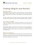 Creating a Blog for your Business How-To Guide