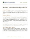 Building a Mobile Friendly Website