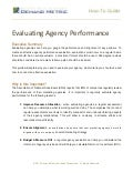 Evaluating Agency Performance How-To Guide