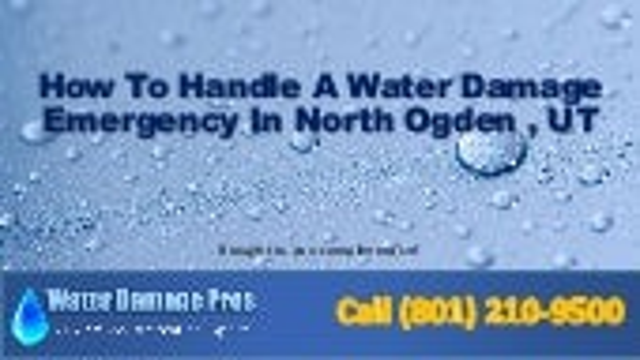 North Ogden water damage emergency