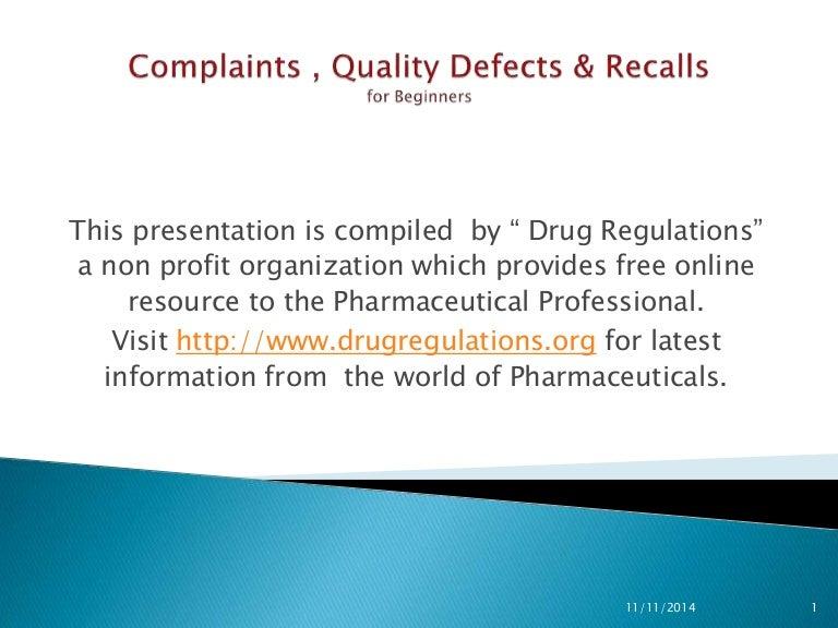 Complaints , quality defects & recalls - New EMA Requirements