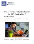 How to Handle Tricky Questions in the OET Reading Part A