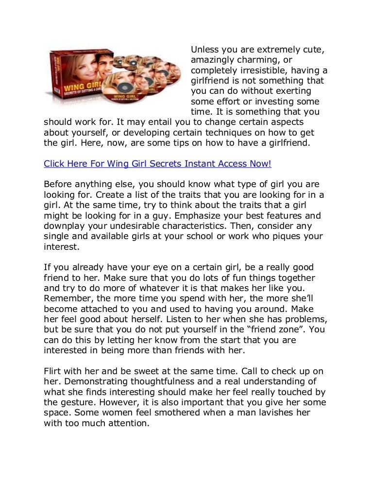 wing girl tips