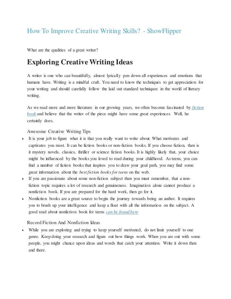 Eight Characteristics of Good Writing