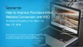 How to Improve Purchase Intent, Website Conversion and SEO
