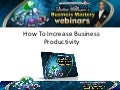 Victor Holman - Simple Ways To Increase Business Productivity and Performance (Video)