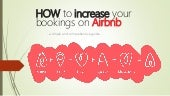 HOW to increase your bookings on AirBnB