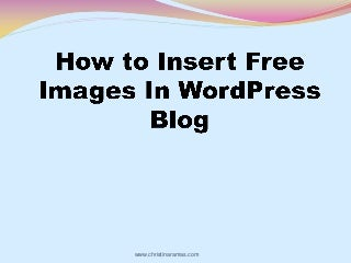 How To Insert Free Images To WordPress Blog