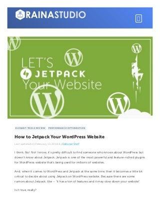 How to Jetpack Your WordPress Website