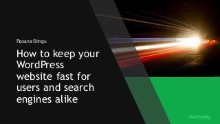 How to keep your WordPress websites fast for users and search engines alike