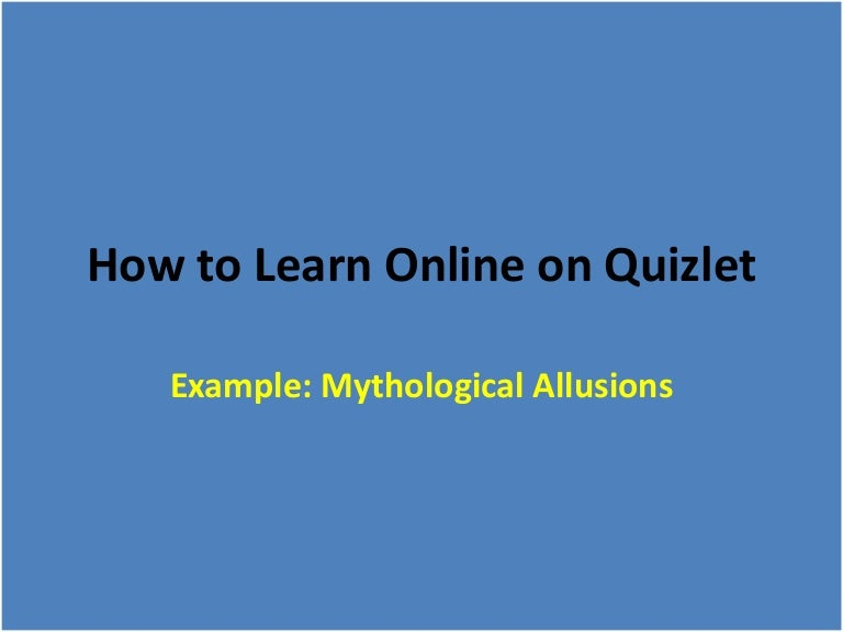 How to Learn Online on Quizlet