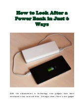 How to Look After a Power Bank in Just 6 Ways