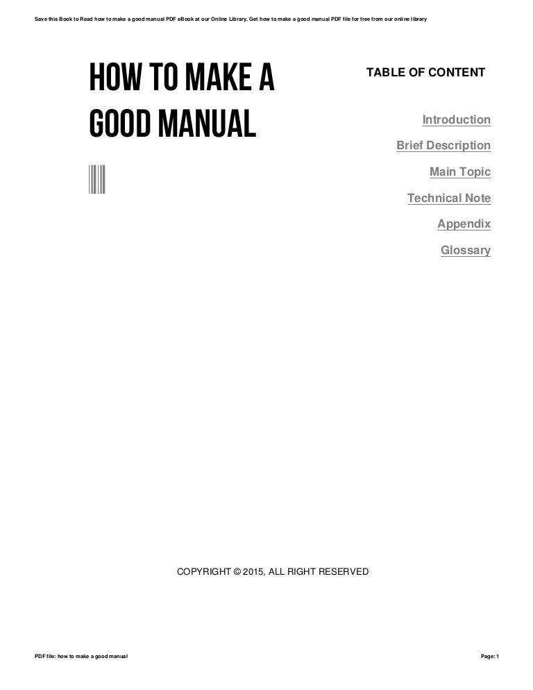 How to make a user guide manual ebook array how to make a good manual rh slideshare net fandeluxe Images