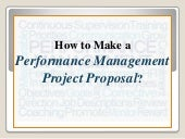 How to Make a Performance Management Project Proposal