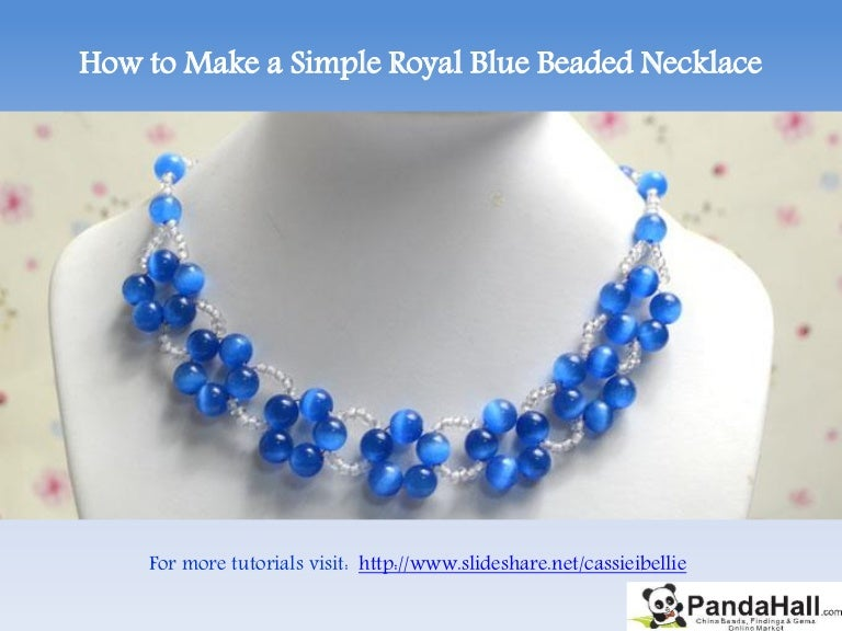 How to Make a Simple Royal Blue Beaded Necklace
