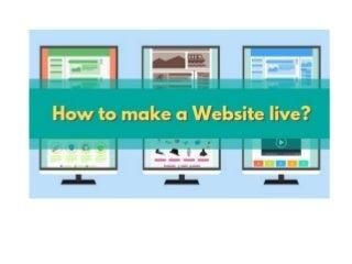 How to make a website live